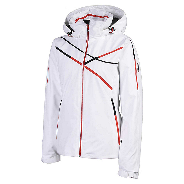 Karbon Ruby Womens Insulated Ski Jacket, Arctic White-Tomato-Black-Blac, 600