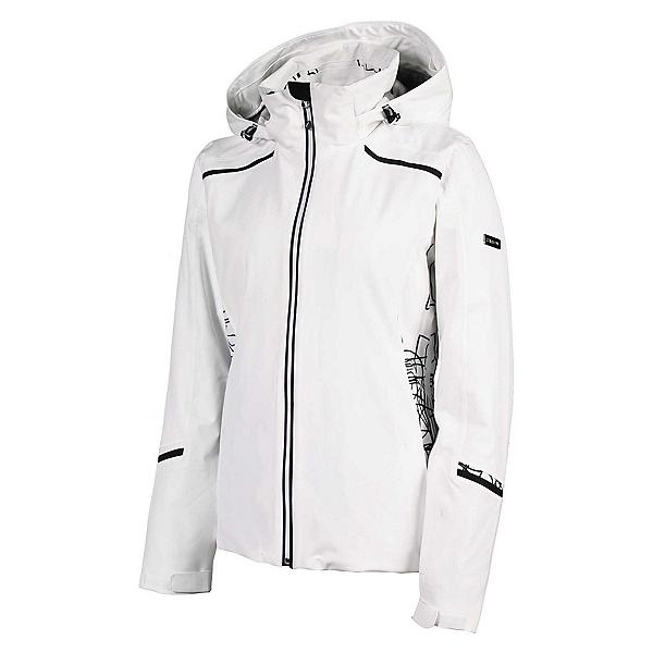 Karbon Amethyst Womens Insulated Ski Jacket 2020, Arctic White-Diamond Tech Prin, 600
