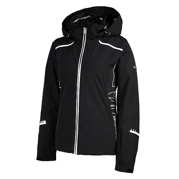 Karbon Amethyst Womens Insulated Ski Jacket, Black-Diamond Tech Print-Arcti, 600
