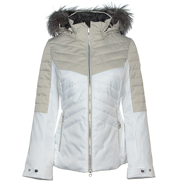 Karbon Ampere Fur Womens Insulated Ski Jacket 2020, Arctic White-Champagne-Champag, 600