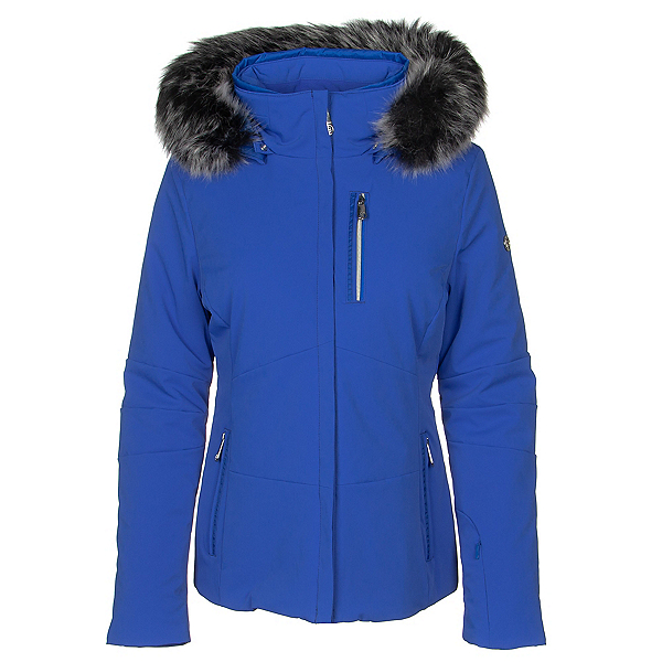 Poivre Blanc Active Stretch Faux Fur Womens Insulated Ski Jacket, , 600
