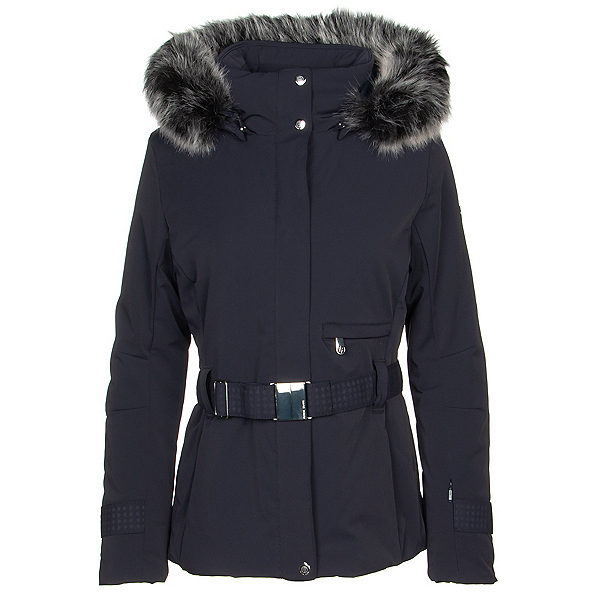 Poivre Blanc Traditional Stretch Faux Fur Womens Insulated Ski Jacket, , 600