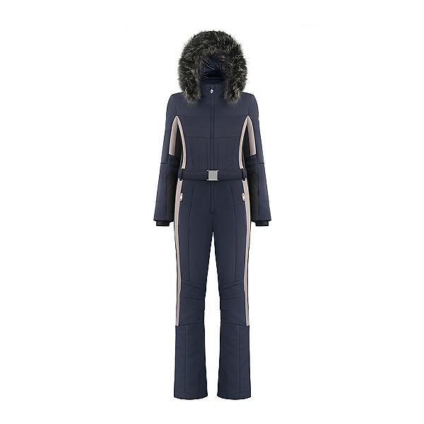 Poivre Blanc Stretch Ski Faux Fur Overall Womens One Piece Ski Suit 2020, , 600