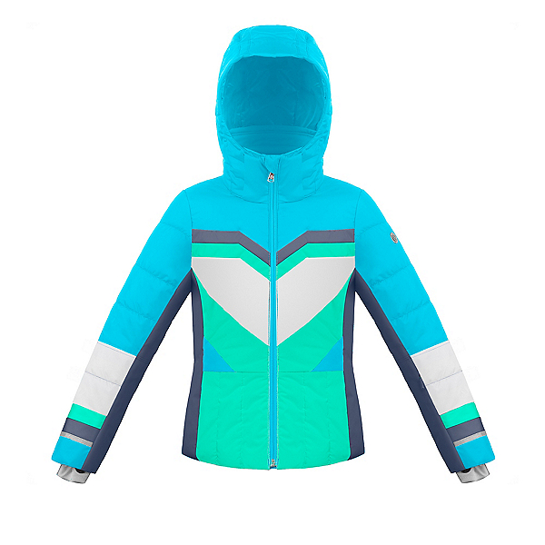 Poivre Blanc Active Girls Ski Jacket 2020, Aqua Blue-Multi, 600