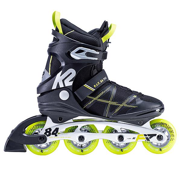 K2 F.I.T. 84 Pro Inline Skates, Black-Lime, 600