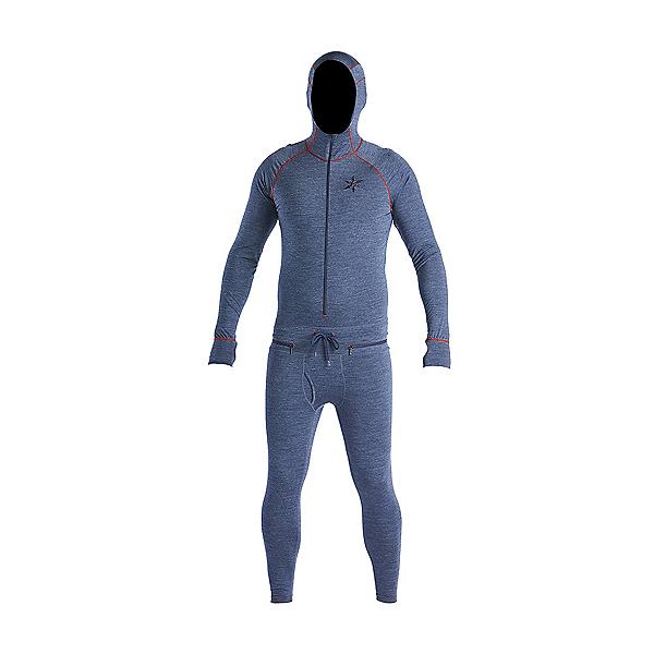 Air Blaster Merino Ninja Suit Mens Long Underwear Top, Navy, 600