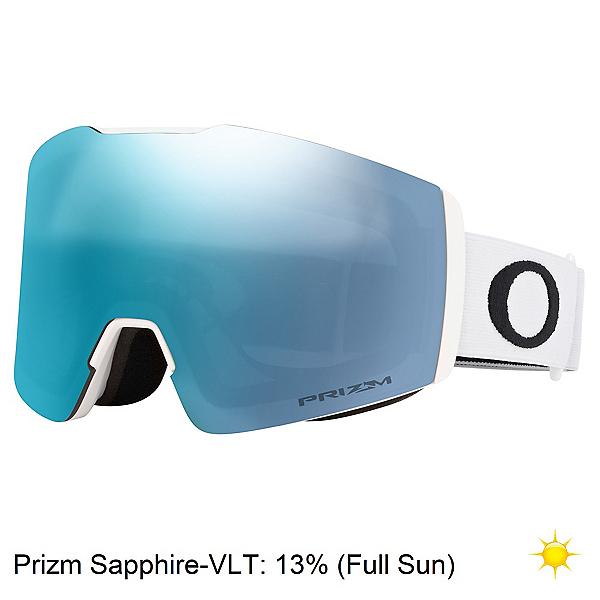 Oakley Fall Line XM Prizm Goggles, Matte White-Prizm Sapphire, 600