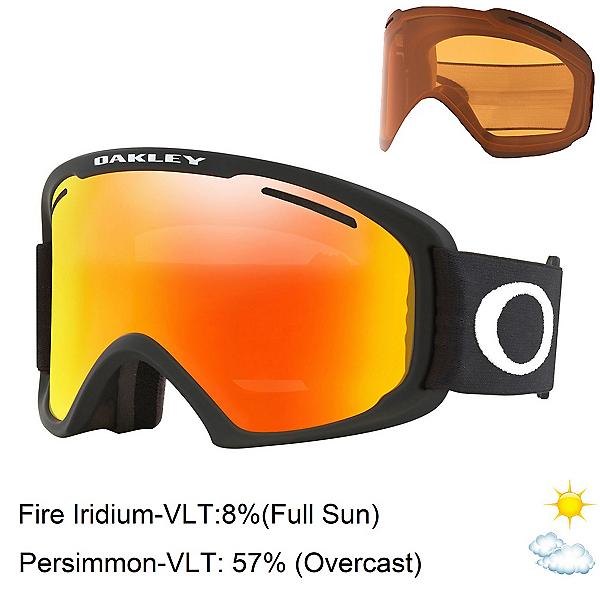 Oakley O Frame 2.0 Pro XL Goggles 2021, Matte Black-Fire Iridium + Bonus Lens, 600