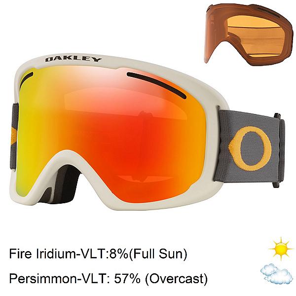 Oakley O Frame 2.0 Pro XL Goggles, Dark Grey Orange-Fire Iridium + Bonus Lens, 600