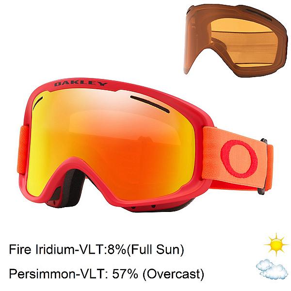 Oakley O Frame 2.0 Pro XM Goggles 2020, Red Neon Orange-Fire Iridium + Bonus Lens, 600