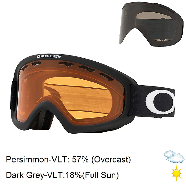 Oakley O Frame 2.0 Pro XS Kids Goggles, Matte Black-Persimmon + Bonus Lens, 600