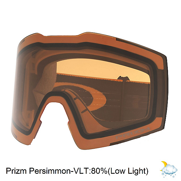 Oakley Fall Line XL Goggle Replacement Lens, Prizim Persimmon, 600