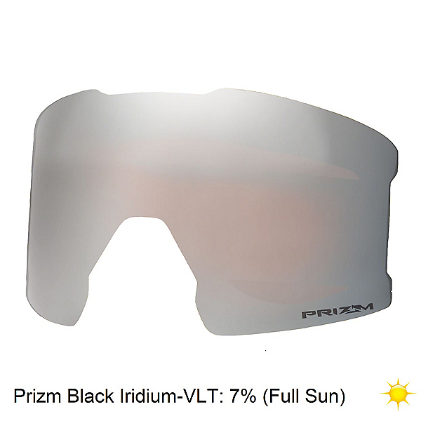 Oakley Line Miner Goggle Replacement Lens, Prizm Black Iridium, 600