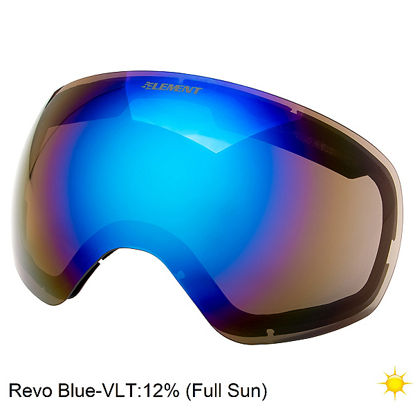 5th Element Reakt Goggle Replacement Lens, Revo Blue, 600