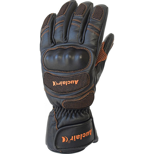 Auclair Keyhole Junior Ski Racing Glove, Black-Orange, 600