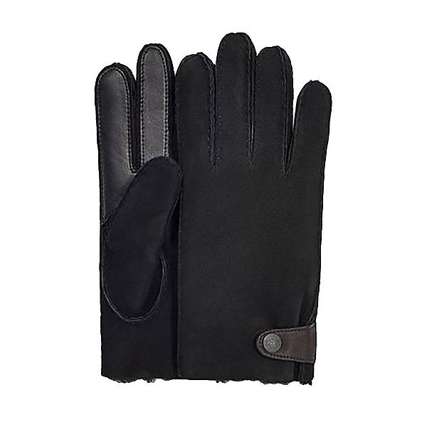 UGG Sheepskin Side Tab Tech Mens Gloves 2020, Black, 600