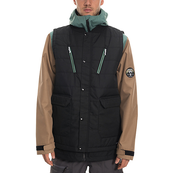 686 Smarty 4 in 1 Complete Mens Insulated Snowboard Jacket, Black, 600