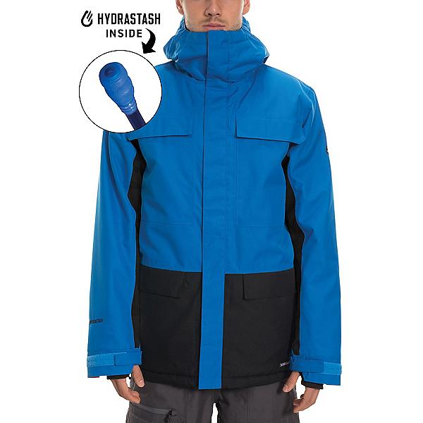 686 Hydrastash Canteen Mens Insulated Snowboard Jacket 2020, Strata Blue Colorblock, 600