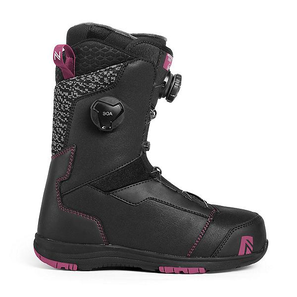 Nidecker Trinity Focus Boa Womens Snowboard Boots, Black, 600