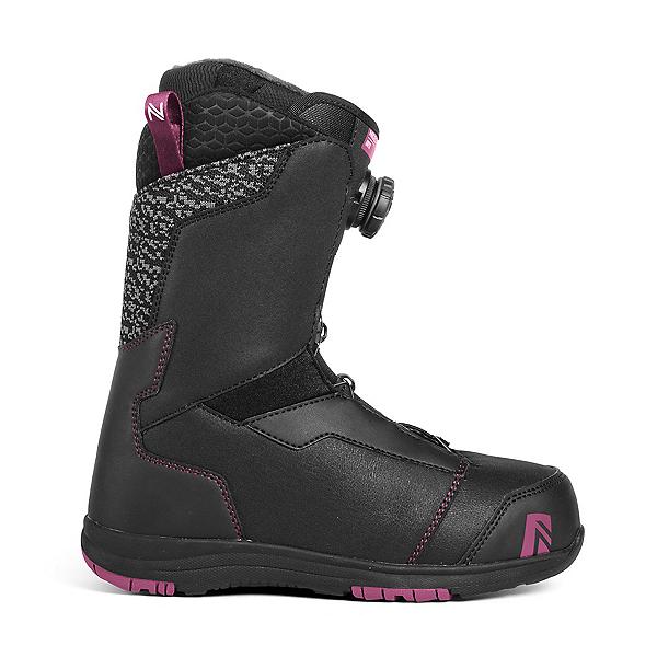 Nidecker Onyx Boa Coiler Womens Snowboard Boots, Black, 600