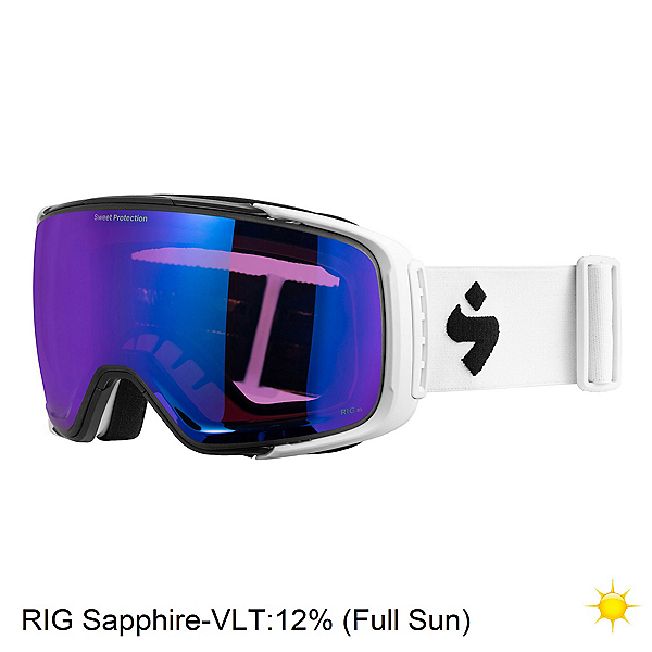 Sweet Protection Interstellar RIG Goggles 2020, Satin White-Rig Sapphire, 600