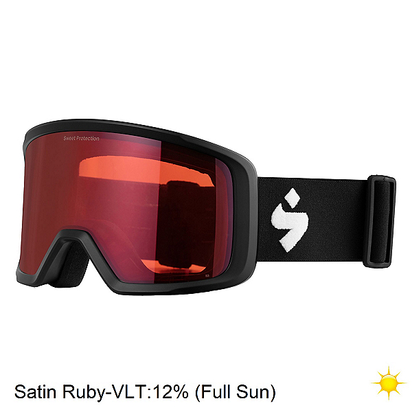 Sweet Protection Firewall Goggles 2020, Matte Black-Satin Ruby, 600