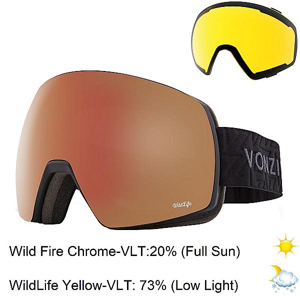 Vonzipper Satellite Goggles 2020, Black Gloss-Wild Fire Chrome + Bonus Lens, 600