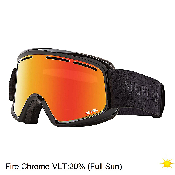 Vonzipper Trike Youth Goggles 2020, Black Gloss-Fire Chrome, 600