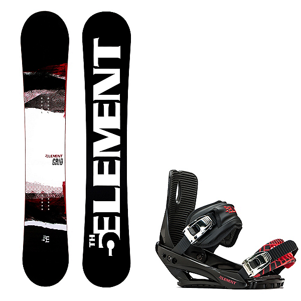 5th Element Grid Wide Snowboard and Binding Package 2020, , 600
