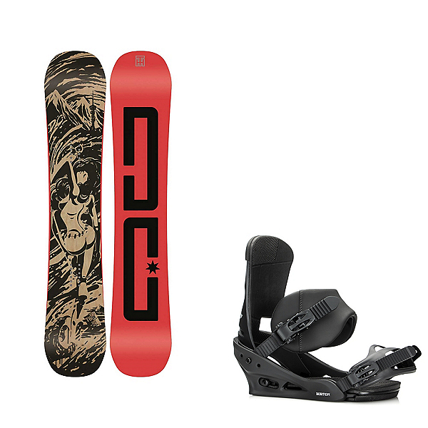 DC Media Blitz Snowboard and Binding Package, , 600