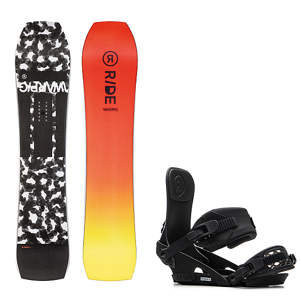 Ride Warpig Snowboard and Binding Package 2020, , 600