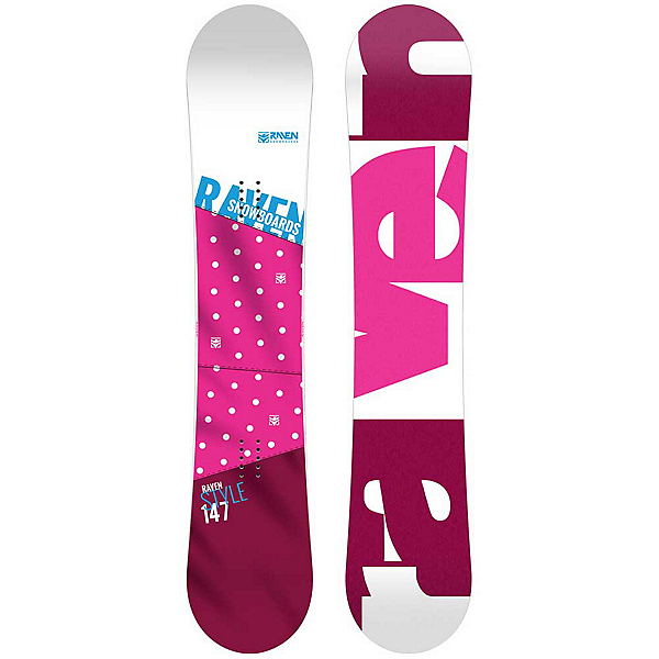 RAVEN Style Pink Womens Snowboard, , 600