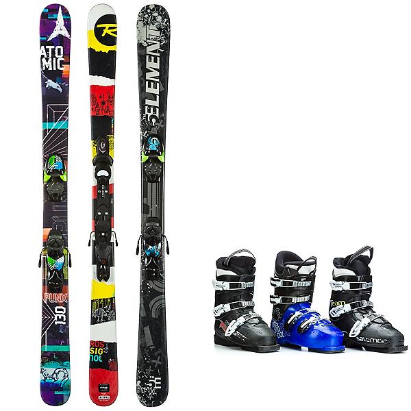 Used Twin Tip Kids Ski Package, , 600