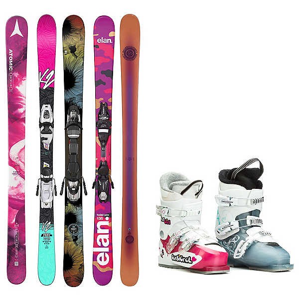 Used Twin Tip Girls Ski Package, , 600