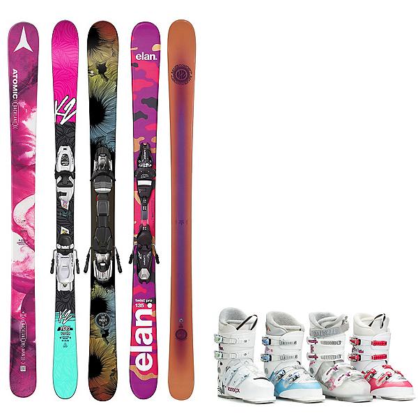 Used Twin Tip Junior Girls Ski Package, , 600