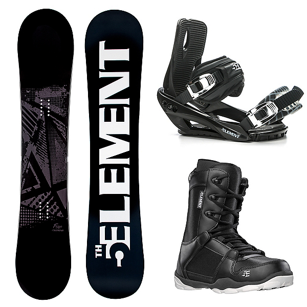 5th Element Forge Wide Black Complete Snowboard Package 2020, , 600