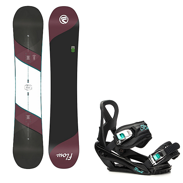 Flow Bella Womens Snowboard and Layla Binding Package, , 600