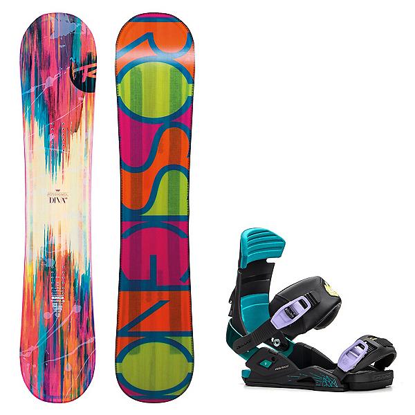Rossignol Diva MagTek Womens Snowboard and Binding Package, , 600