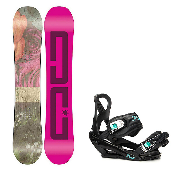 DC Telegraph Womens Snowboard and Layla Binding Package 2018, , 600