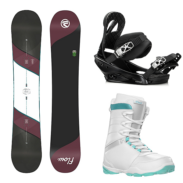 Flow Bella Womens Complete Snowboard Package, , 600