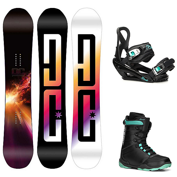 DC PLY Black Womens Complete Snowboard Package, , 600