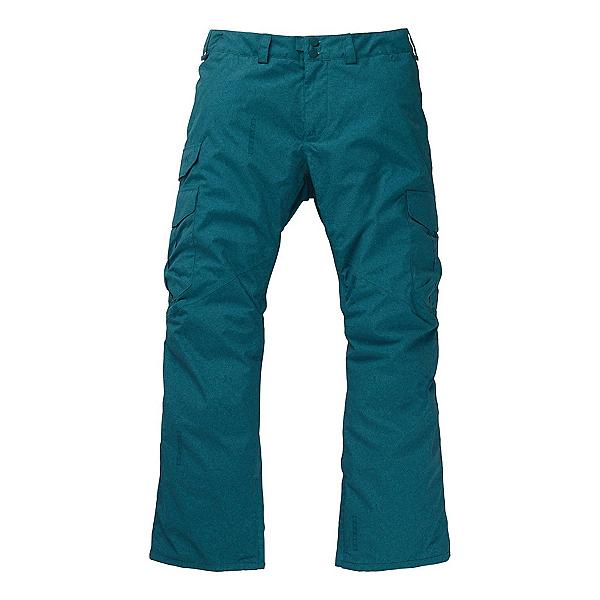 Burton Cargo Mens Snowboard Pants, Deep Teal Acid Wash, 600
