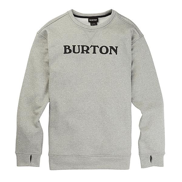 Burton Oak Crew Mens Sweatshirt, Gray Heather, 600