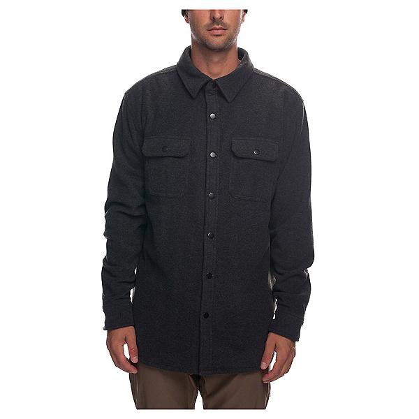 686 Sierra Men's Fleece Flannel Shirt 2019, Charcoal Heather, 600