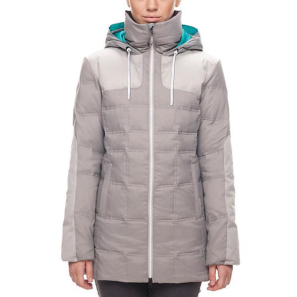 686 GLCR Bliss Down Womens Jacket, Light Grey, 600