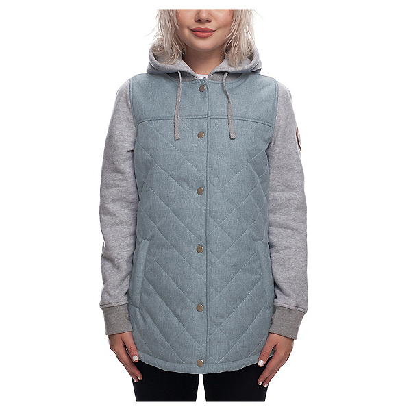 686 Autumn Women's Insulated Jacket 2019, Light Blue Melange, 600