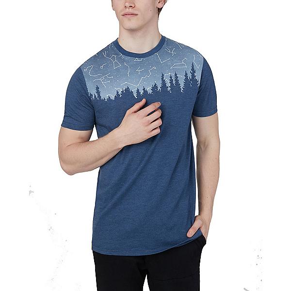 Tentree Constellation Classic Mens T-Shirt 2020, Dark Ocean Blue Heather, 600