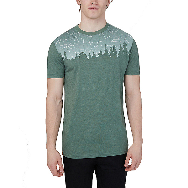 Tentree Constellation Classic Mens T-Shirt 2020, Forest Green Heather, 600