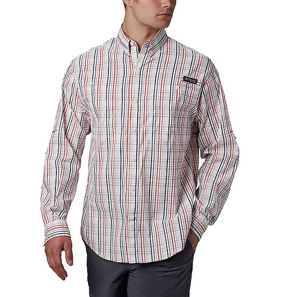 Columbia Super Tamiami LS Mens Shirt 2020, Red Spark Small Check, 600