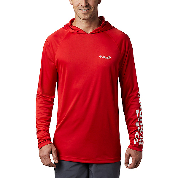 Columbia Terminal Tackle Mens Hoodie, Red Spark-White, 600